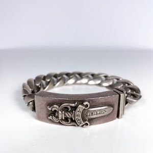 Chrome Hearts Dagger 1997 Silver Bracelet